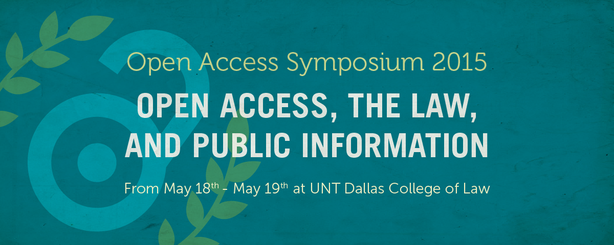 Open Access Symposium 2015 Banner