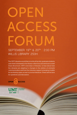 flier for Open Access Forum